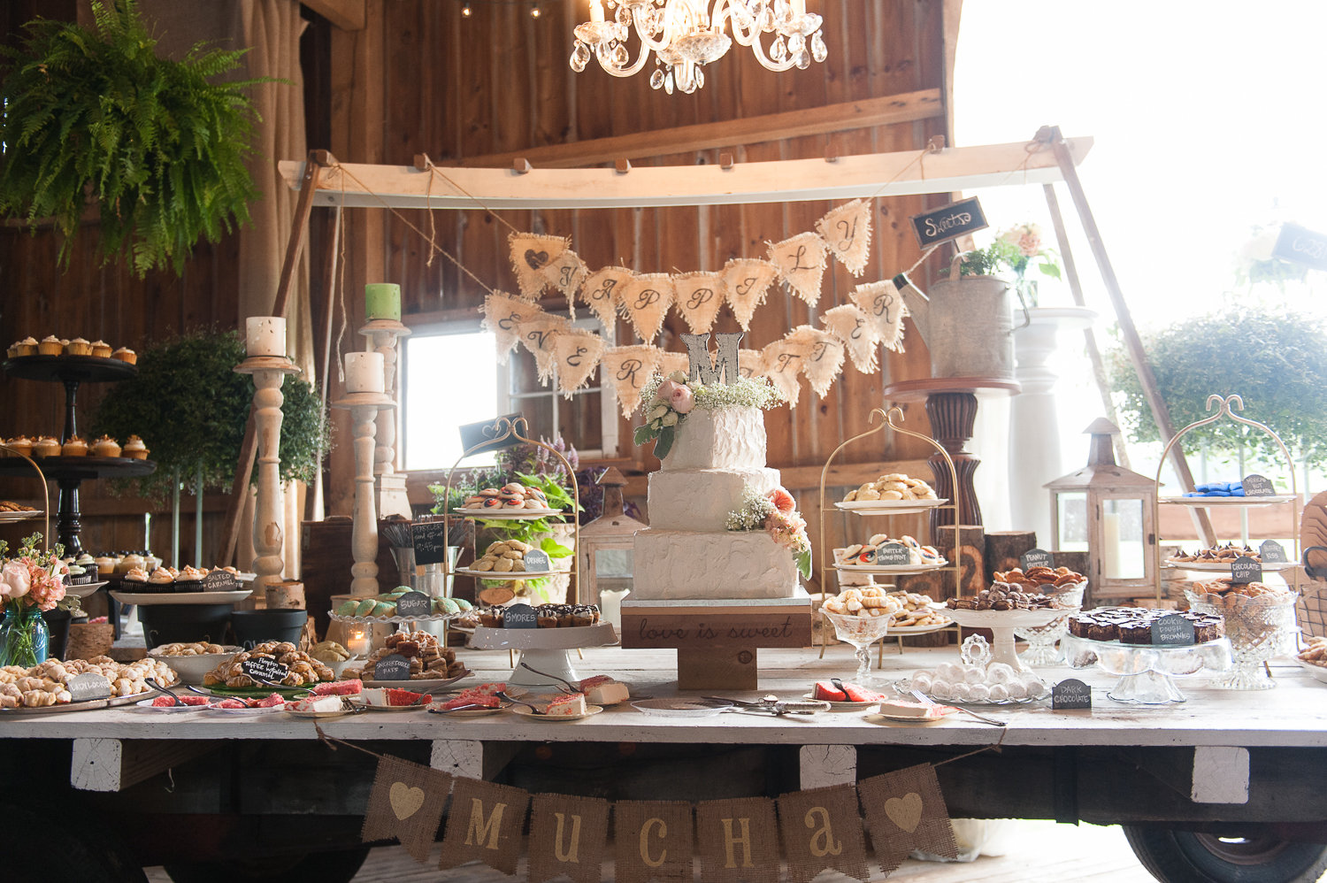 pittsburgh wedding cookie table display