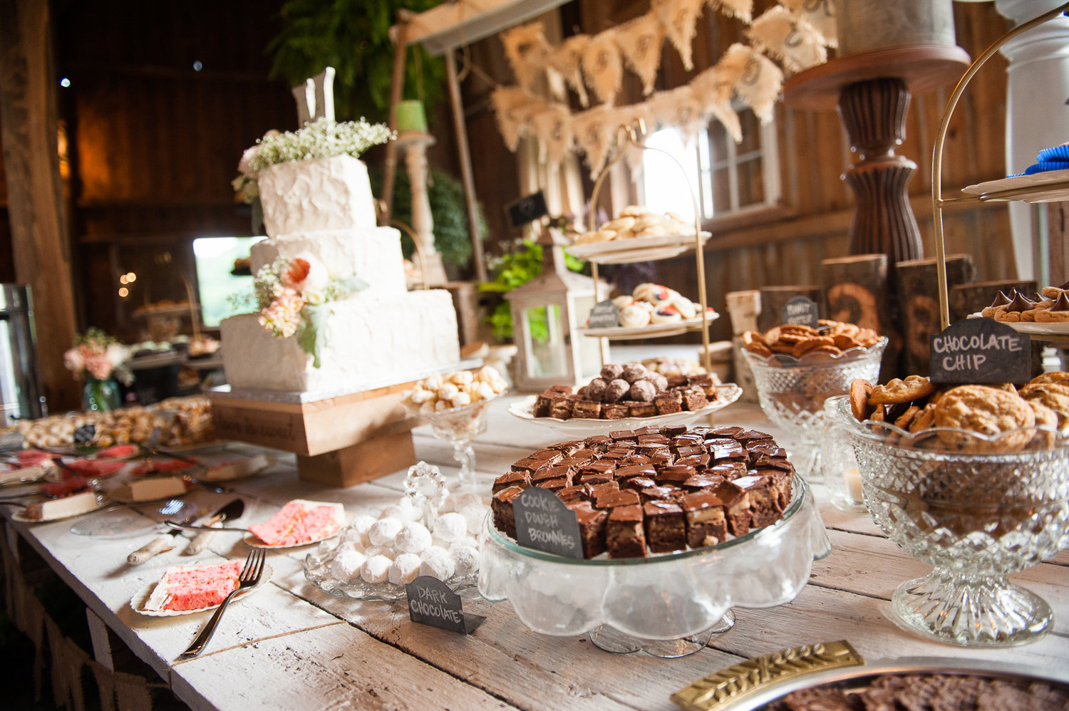 cookie table wedding display