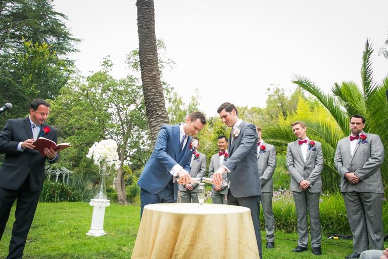 gay wedding sand ceremony